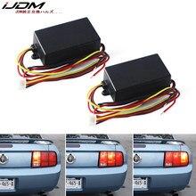 IJDM Автомобильный задний фонарь для Ford Mustang, передний или задний указатели поворота, 3-ступенчатый последовательный динамический фонарь для ...
