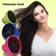 Difusor de silicone para estilizar cabelo, capa de silicone dobrável não tóxica para resistência a alta temperatura, acessório para cuidados com o cabelo