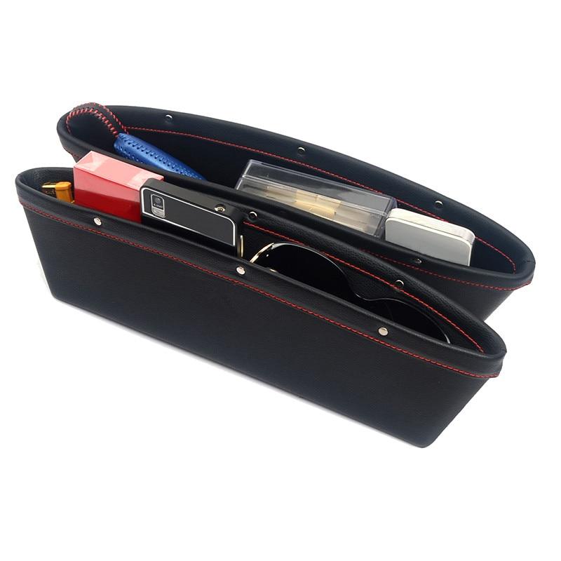 2 stücke Auto Sitz Lagerung Box Organizer Car-styling Kleinigkeiten Telefon Brieftasche Container Verstauen Aufräumen Autos Interior Zubehör