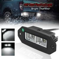 1PCS 40W 6000K LED Offroad Work Light Bar Flush Mount Flood Off Road For Jeep SUV ATV Pickup Car Boats