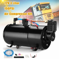 3L Air Compressor Tank 150PSI 12V Train Horns Air Hose Protector Switch Vehicle For Truck Train
