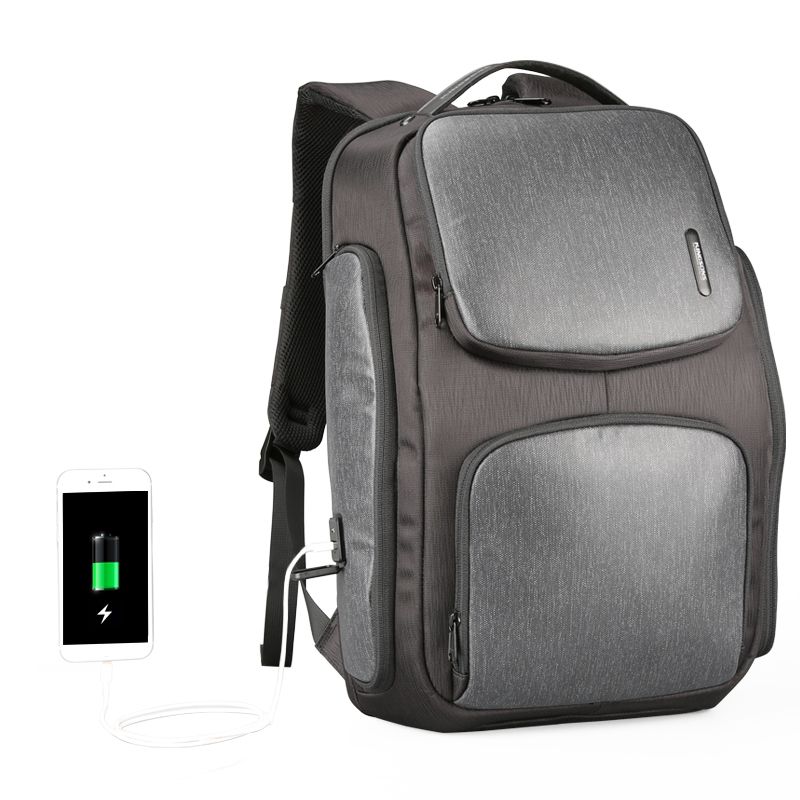 ICON Kingsons Upgraded Solar Backpack Fast USB Charging Backpack 15 6 inches Laptop Backpacks Men Travel