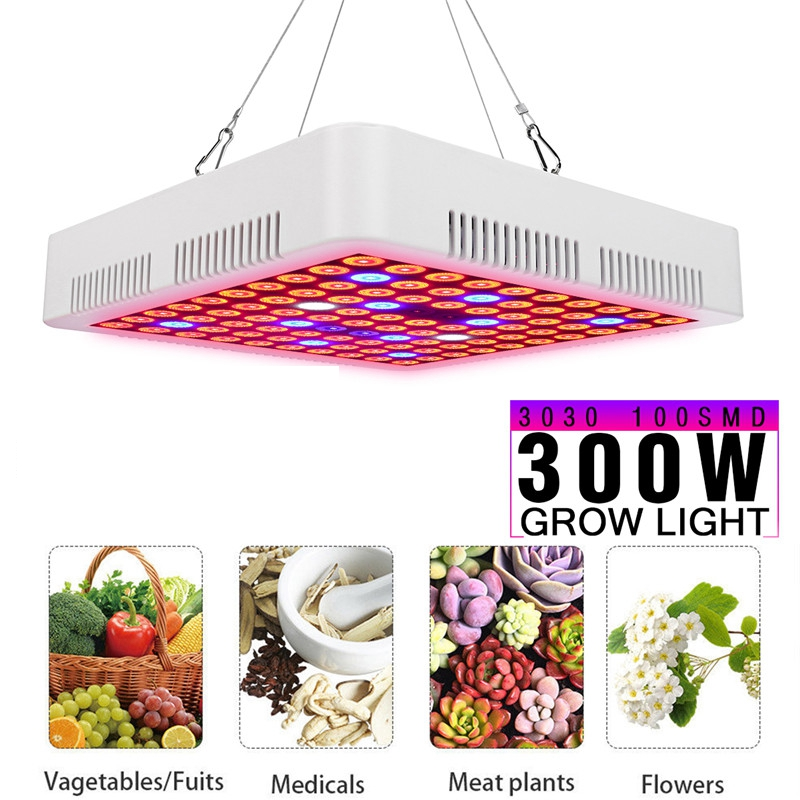 Светодио дный светодиодный светать панель 300 Вт полный светодио дный спектр растет лампы для комнатных растений гидропоники парниковых