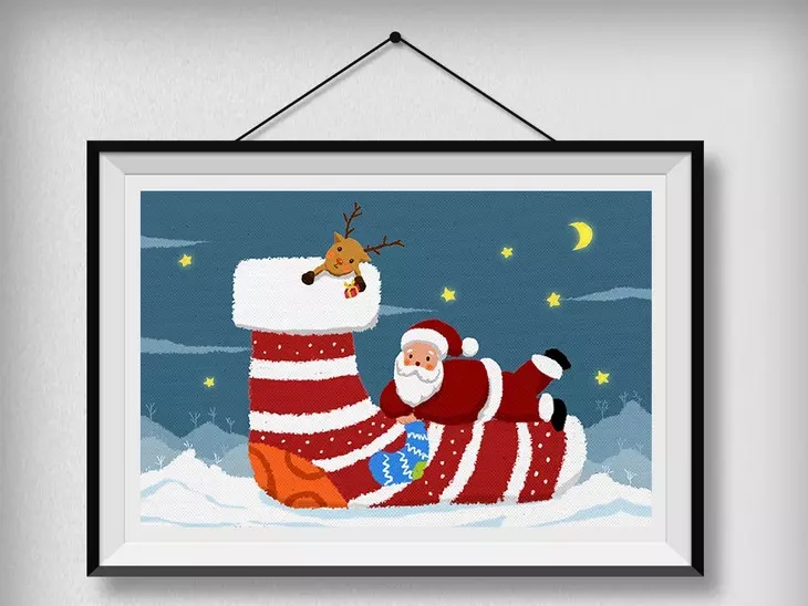 Santa diamond painting 5d embroidery sticky crystal diy wall
