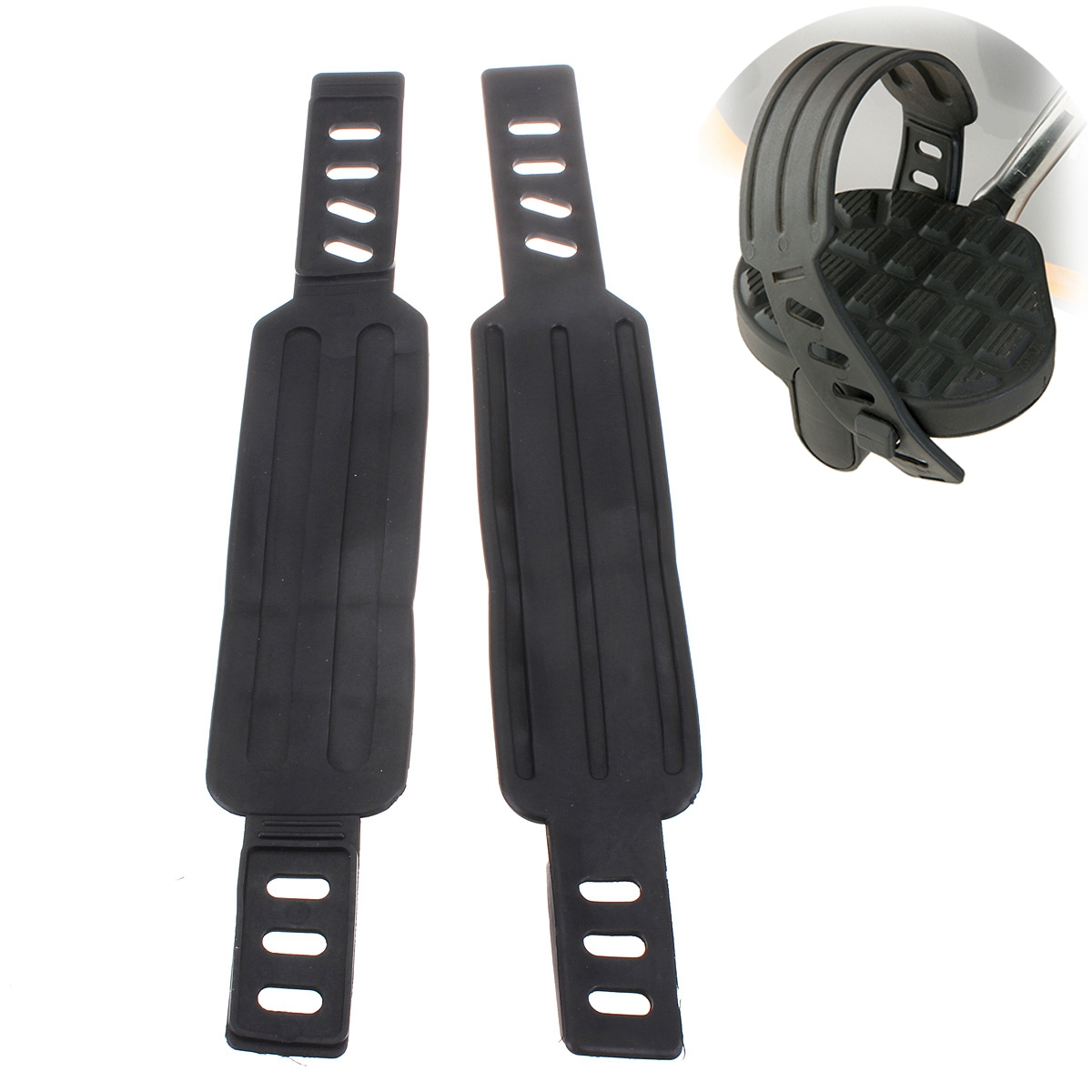 A Pair Rubber Pedal Strap for Excersise Bike Bicycle Cycle Home Gym Life Cycle