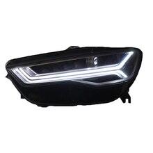 Снаружи Assessoires Drl укладки днем Neblineros Para светодиодная лампочка для авто работает фары сзади огни автомобиля в сборе для Audi A6l
