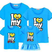 bd7f72242a Mother daughter dresses Family Matching Outfits mommy and me clothes family  look cotton t-shirts