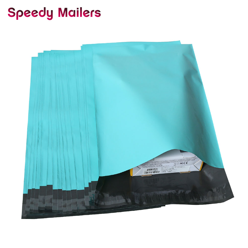 Image 3 - Speedy Mailers 100pcs 8.5x10inch Colorful Poly Mailer 22x26cm Teal Green Poly Mailer Self Seal Plastic Packing Envelope Bags-in Paper Envelopes from Office & School Supplies