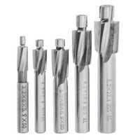 5 uds 4 avellanador extremo de la flauta de fresado HSS AL cortador piloto taladro ranura Bit M3-M8 para acero de bajo carbono/materiales no férreos