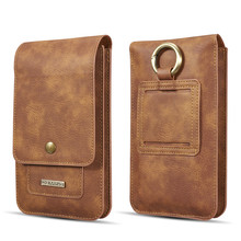5.2~6.5 inch Leather Holster Case for iPhone X XS MAX 7 8 6 plus Belt Clip Mobile Phone Pouch for Samsung S10 S9 S8 plus Note 8