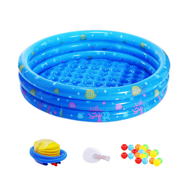 Play Tent Inflatable Pool Ocean Ball Pool Pit Round Swimming Pool  Indoor/Outdoor Foldable Bath Toy For Baby With 20 Ocean Ball