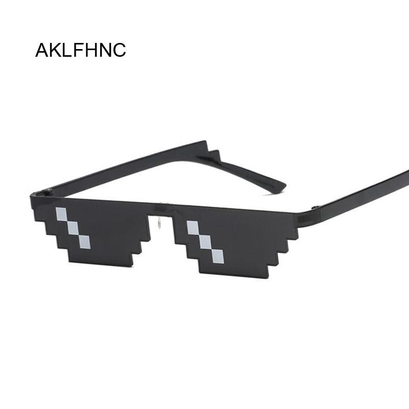 Deal With It Glasses, женские мозаичные солнцезащитные очки Thug Life, очки Dealwithit, популярные, крутые, по всему миру