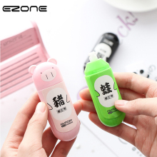 EZONE Cartoon Animal Correction Tape 5mm*3m Pig Panda Frog Kawaii Correction Tape Super Stationery Coverage Tape Color random random color correction tape 1pc
