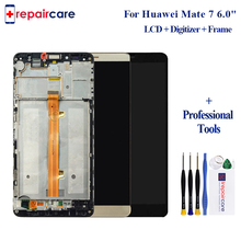 Original Replacement parts For Huawei Mate 7 LCD and Touch Screen Assembly Digiziter Replacement with Frame for Huawei Mate 7 white black gold for huawei ascend mate s lcd display screen touch digiziter assembly with frame free shipping