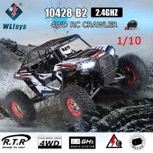 WLtoys 10428-B2 1/10 2,4G 4WD RTR Электрический Рок Гусеничный внедорожный Багги пустыня Baja RC автомобиль для мальчиков подарки на день рождения