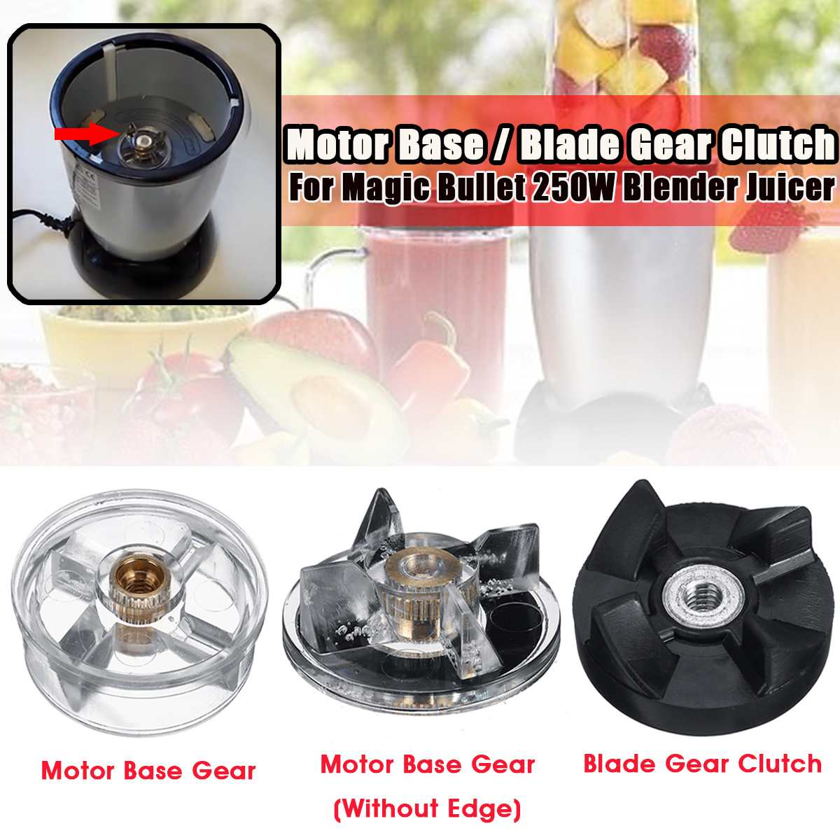 1Pc Juicer Blade Gears Spare Parts Replacement Motor Base Blade Gear Clutch For Magic Bullet  Juicer MB1001