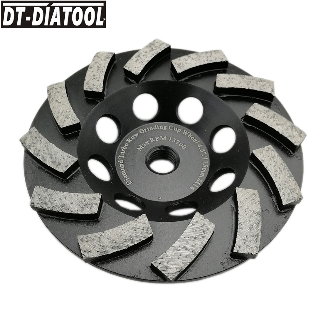 "30//40 Grit 4"" Premium Turbo Diamond Cup Wheel for Granite Hard Concrete"