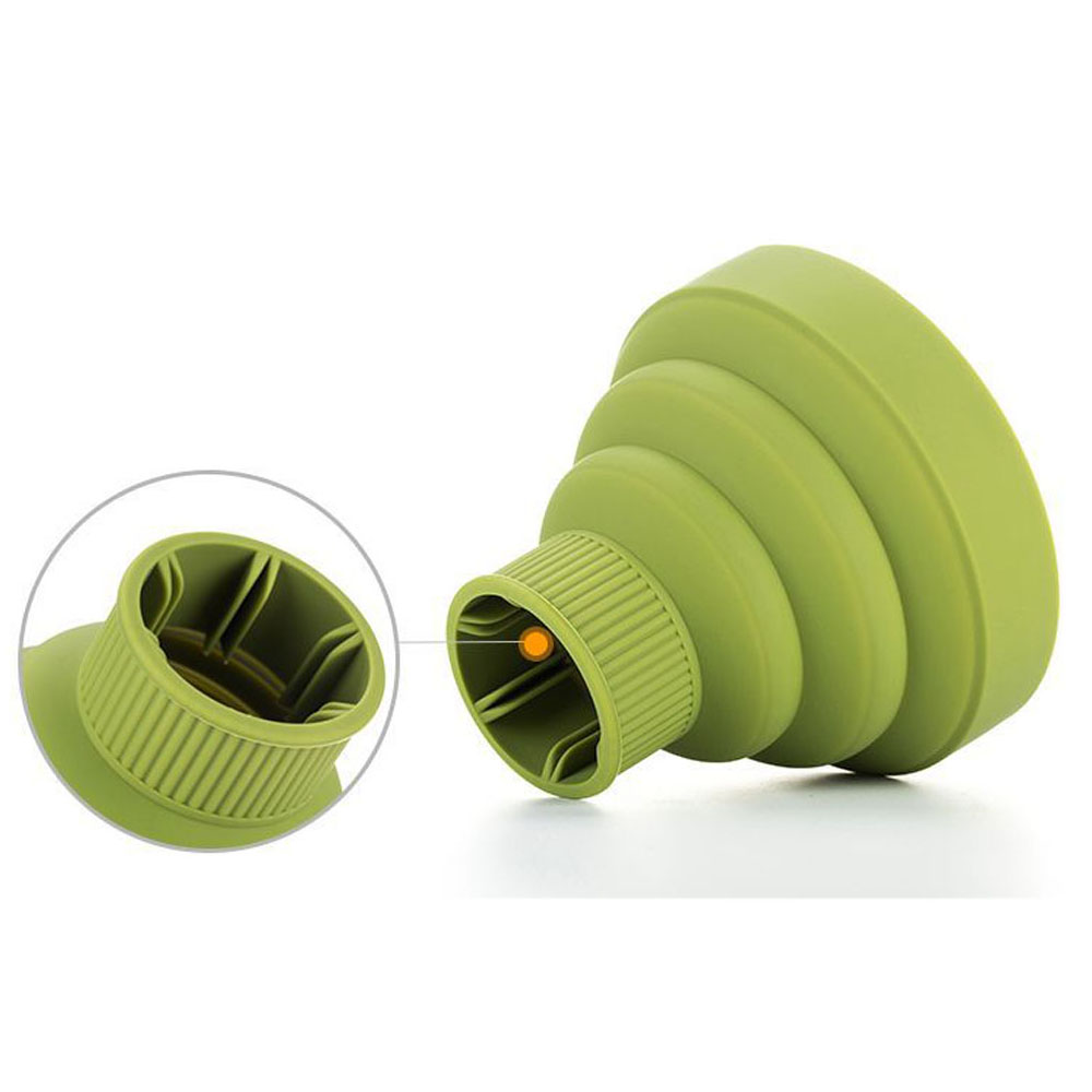Silicone Universal Hair Diffuser Blower Hairdressing Salon Curly Hair Folding Diffuser Cover 4 Colors 5