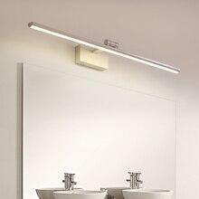 40 60 80 100cm Modern LED Mirror Lights Bedroom Bathroom Wall Mounted Lamp Adjustable Aluminum Body