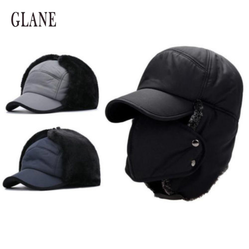 ad5989b5 Unisex Winter Hiking Hunting Outdoor Bomber Hats Thicken Balaclava Cotton  Fur Earflap Thermal Russian Skull Mask