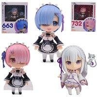 10 см версии rem 663 аниме оперативная память 732 relife в другом мире от нуля 751 фигурку Эмилии фигурку Коллекция Модель игрушки