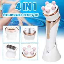 4 In1 Rechargeable Women Electric Shaver Epilator Facial Hai