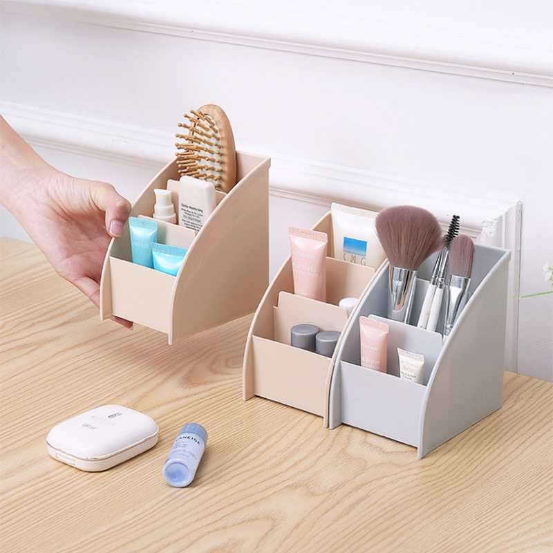 2pcs Makeup Organizer Bathroom Storage Box Cosmetic Organiser Office Desktop Make Up Jewelry Storage Box Sundries Container