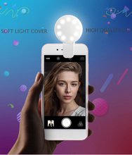 Mini LED Flash Beauty Fill Light Portable RK17 Rechargeable  9 pcs Bulbs Selfie Ring for Samsung S8 S9