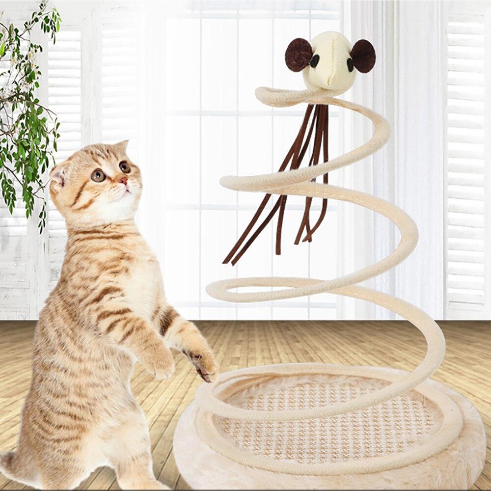 Brinquedos do gato Criativo Fun Mice Plush Suporte da Mola de Fio de Aço do Jogo de Simulação de Treinamento Atividade Brinquedos Engraçados do animal de Estimação Brinquedo Do Gato Rato para o Gato