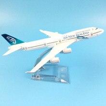 16cm ar nova zelândia boeing 747 aeronaves modelo diecast metal modelo aviões 1:400 metal avião avião avião modelo de brinquedo