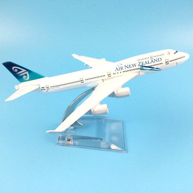 16cm hava yeni zelanda Boeing 747 uçak modeli Diecast Metal Model uçaklar 1:400 Metal uçak düzlem uçak Model oyuncak