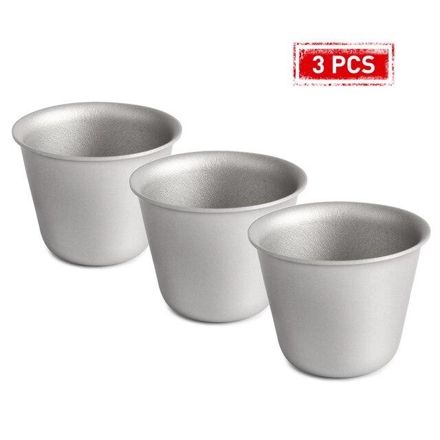 1 PCS/2 PCS/3 PEÇAS de Titânio Copo Caneca de Café Xícara de Chá de Vinho de Mesa de Piquenique de Acampamento Ao Ar Livre Do Partido xícara de Água Drinkware Anti-quebrado