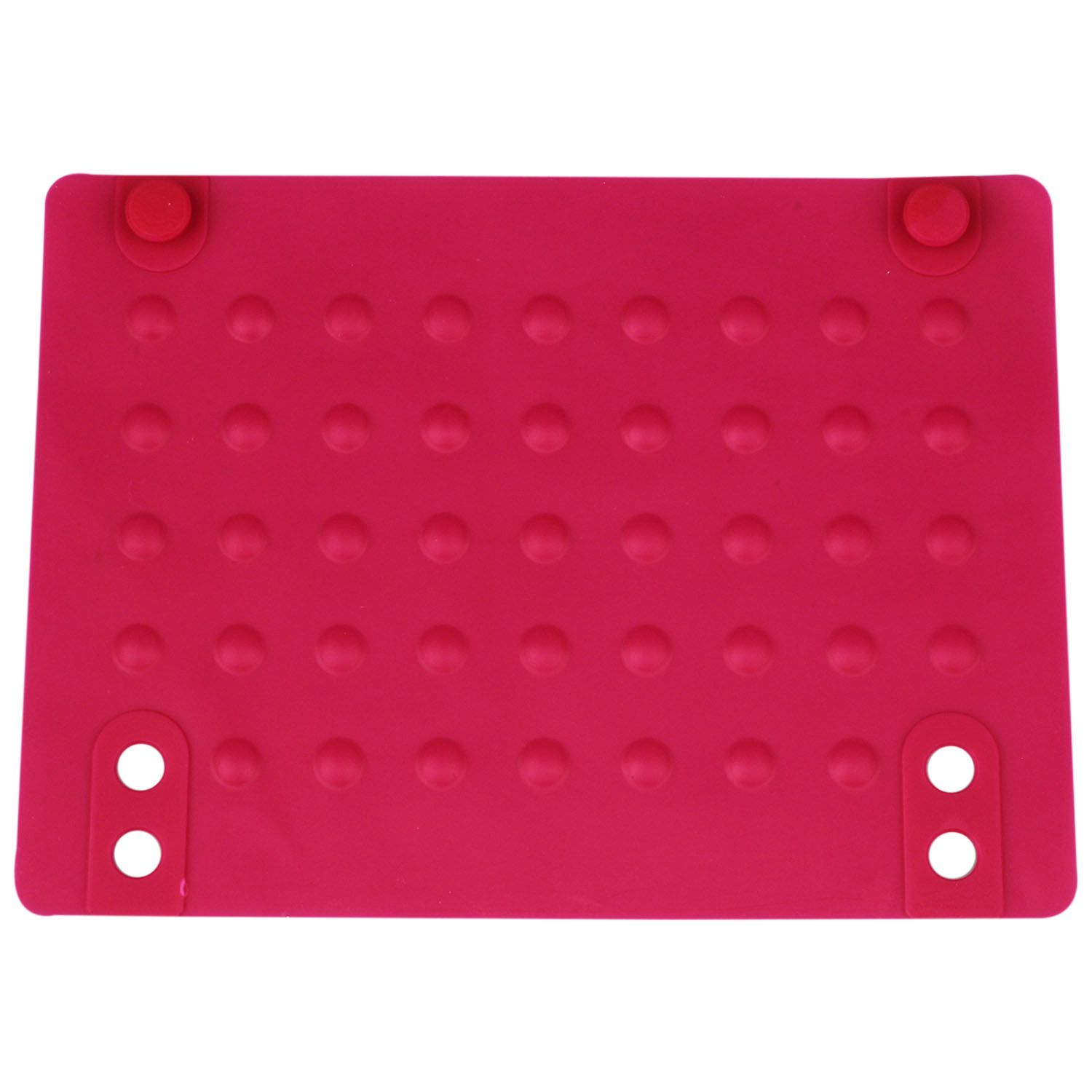 rose Red 215*165cm Silicone Heat Resistant Mat Anti-heat Mats For Hair Straightener Curling Iron