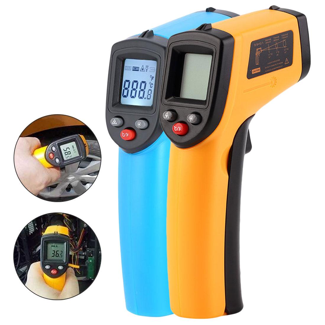 Digital gm320 termômetro infravermelho sem contato termômetro infravermelho pirometer ir laser medidor de temperatura arma-50 3380c