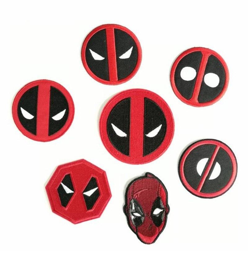 Ev ve Bahçe'ten Yamalar'de Deadpool Logosu demir on yamalar film TV rozeti bez işlemeli DIY Aplike toptan'da  Grup 1