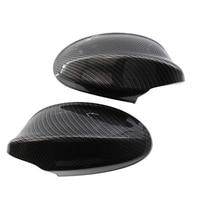 New Auto Car Glossy Carbon Fiber Left & Right Mirror Cover Cap For 05 07 BMW E90