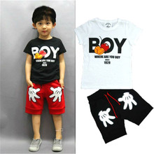 RABITUDE Clothing Sets Summer 2019 Boys Short Sleeve 2 Pcs