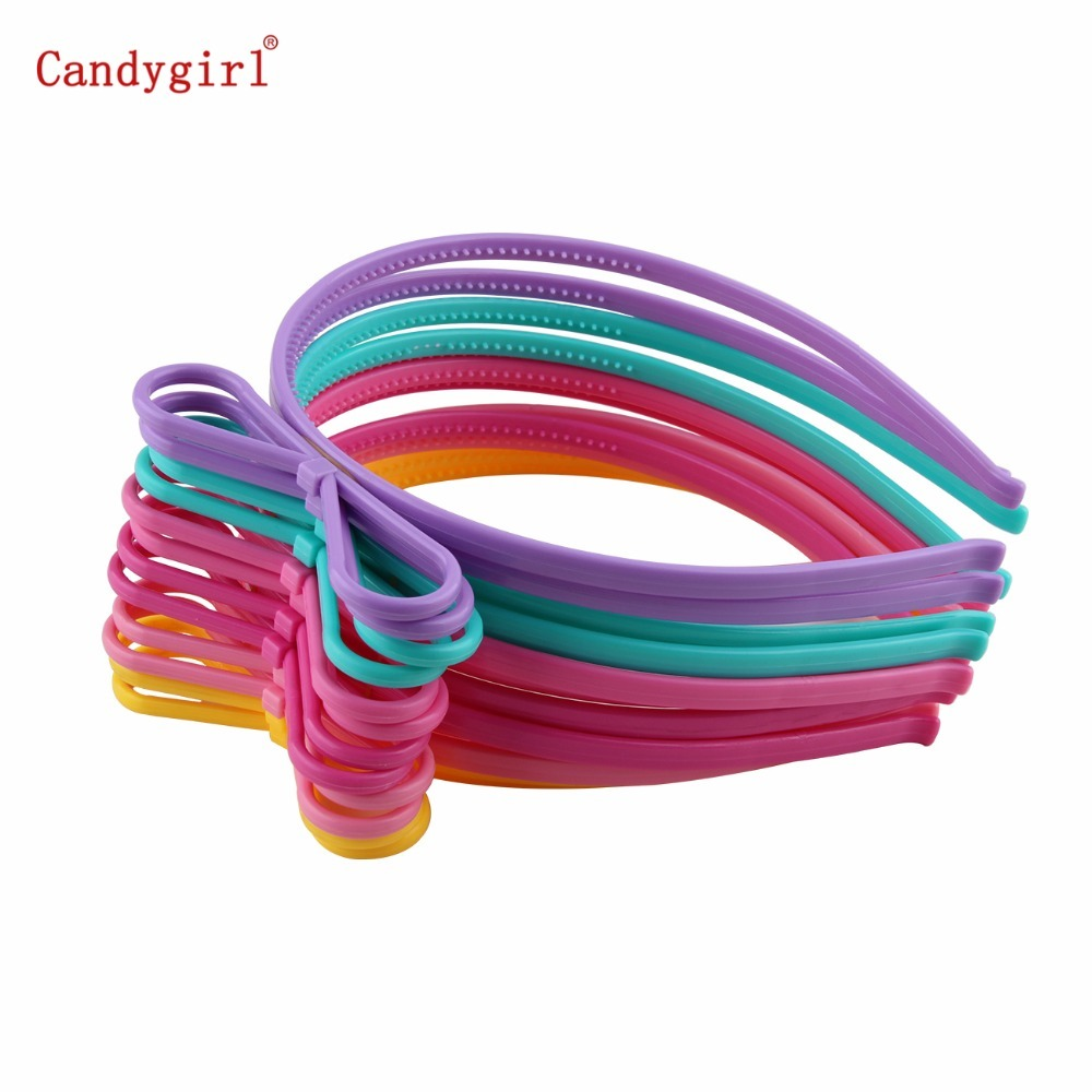 6pcs Butterfly Bow Headbands baby Girl Kids Women Plastic Hairbands Teeth Hoop Tiara Accessories Hair Band bandanas   Headwear   DIY