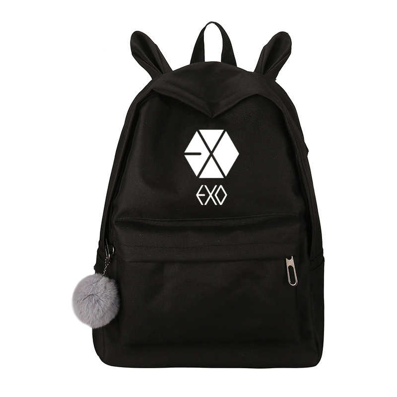 Новейший прекрасный купальный костюм с принтом Exo, Got7 рюкзак Для женщин хотите один Blackpink монста х дважды холстовый Школьный Рюкзак Для Путешествий Sac A Dos Femme