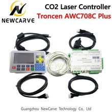 Trocen AWC708c Plus CO2 Laser DSP Controller System Support 6 Axis And Num Lock For Laser Cutting Machine NEWCARVE smartrayc ruida rd rdc6344g 7 touch panel co2 laser dsp controller for laser engraving and cutting machine rdc dsp 6344g