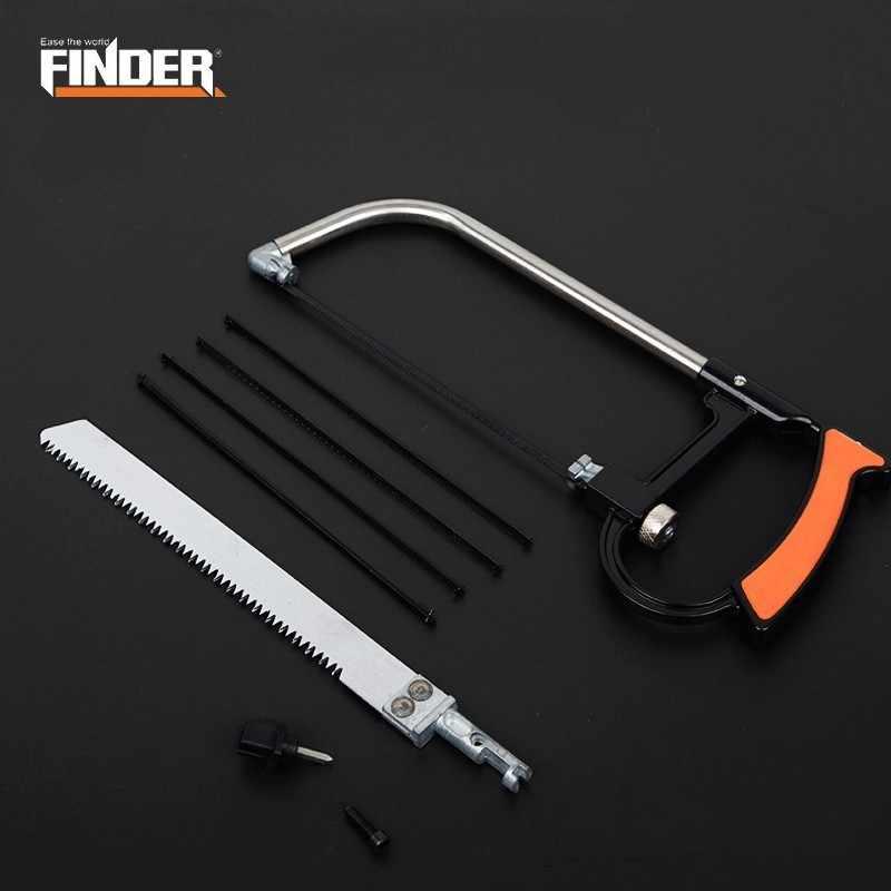 FINDER Mini Multi-Function Magic Saw Set Portable Adjustable Woodworking Hand Hacksaw Detachable Hack Metal Wood Cutter Tool
