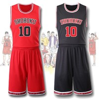 Anime SLAM DUNK Basketball Uniforms Hanamichi Sakuragi School Team Sports Wear Rukawa Kaede Cosplay Costume Sport Suit