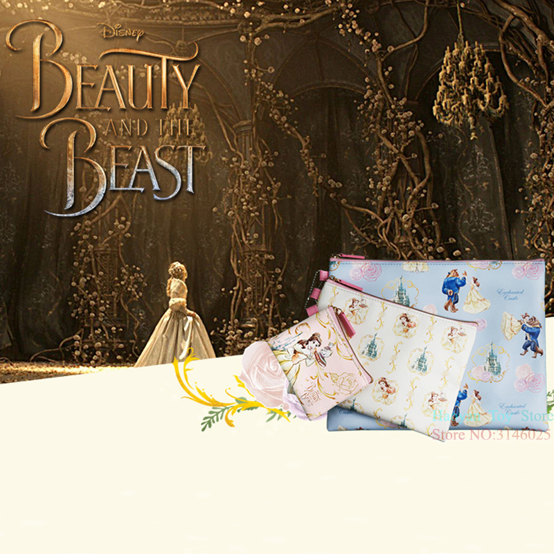 Genuine Disney 3pcs/set Beauty And The Beast Series Fashion Mommy Bag Multi-function Women Bag Wallet Purse Bag For Girls Gifts