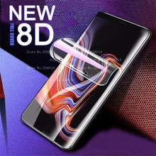 New 8D Full Cover Hydrogel Film For Samsung Galaxy S10 J4 J6 A6 Plus 2018 Screen Protector J3 A5 A7 Soft Protective HD