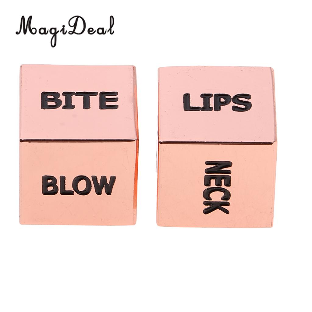 Sex Dice Toys Erotic Craps Dice Position Sex Games For Couple Gift Rose Gold