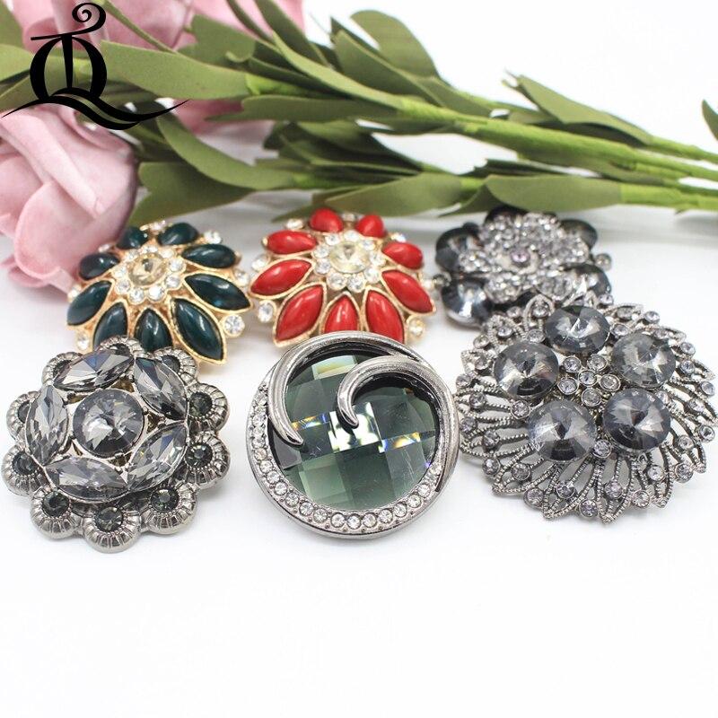 519d1888be Free shipping craft buttons BIG Handmade decorative rhinestone Resin ...