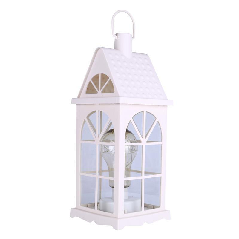 Night Lights Hearty Bifi-european Wrought Iron Window Molding Glass Windproof Light Bulb Shape Table Lamp Wedding Garden Home Decoration Hanging L