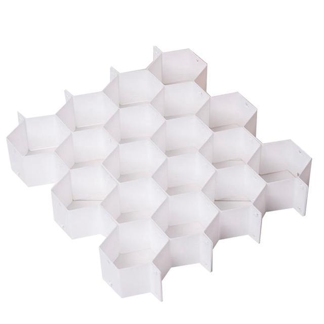 AdAjustable Drawer Honeycomb Clapboard Partition Divider Box Separator DIY Grid Storage Organizer Cell Sorting Panties Socks
