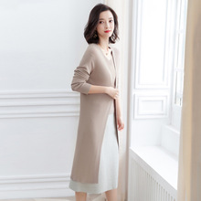 Cardigan Woman Korean Long Sleeve Outerwear Air Conditioner knitting cardigan Sunscreen Loose Coat women F9907