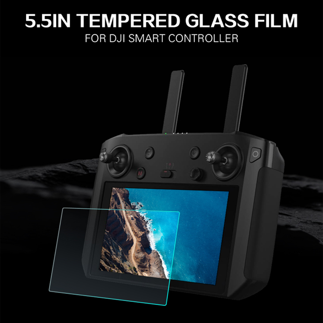 SUNNYLIFE 9H Tempered Glass Screen Protector Glass Protective Film For DJI Smart Controller For DJI Mavic 2 Pro/zoom RC Parts